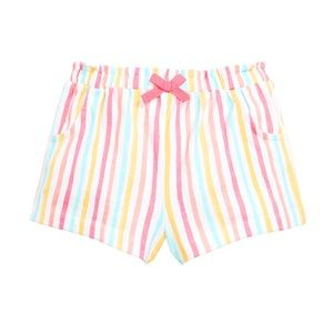 NWT First Impressions Rainbow Stripe Shorts 24mo
